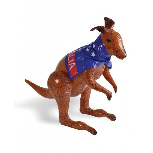 Inflatable Kangaroo with Australian Flag 70cm