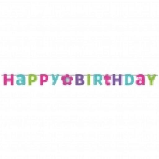 Happy Birthday Prismatic Letter Banner 2.4m