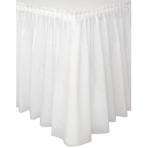 Plastic White Table Skirt 73cm x 426cm