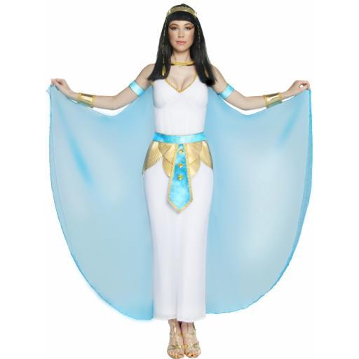 Cleopatra Dress Cape arm cuffs neck piece & belt