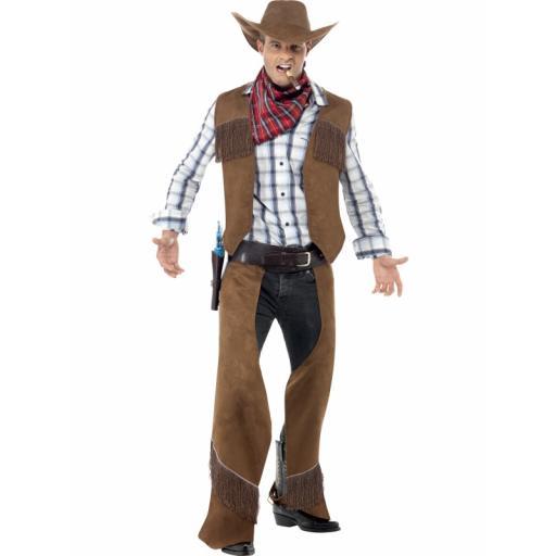 Fringe Cowboy Waistcoat chaps neckerchief hat