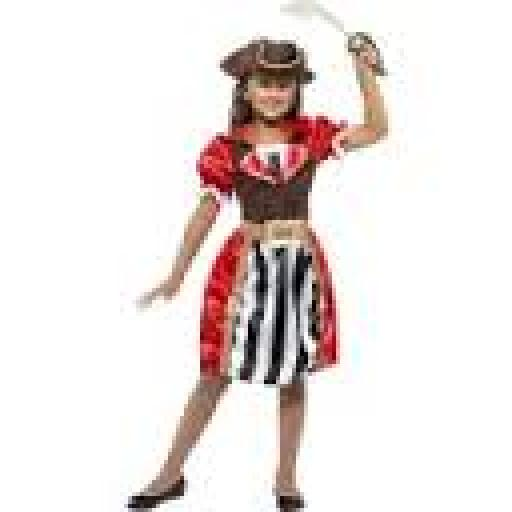 Pirate Captain Dress & Mock Waistcoat Hat AND Belt SMALL