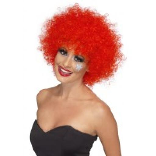 Funky Afro / Crazy Clown Wig Red