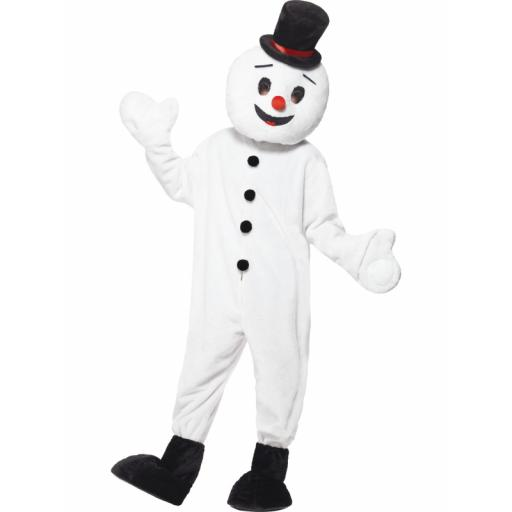 Snowman Mascot Bodysuit Feet Covers and and Large
