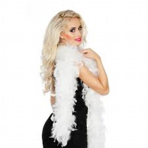 White Feather Boa 50g