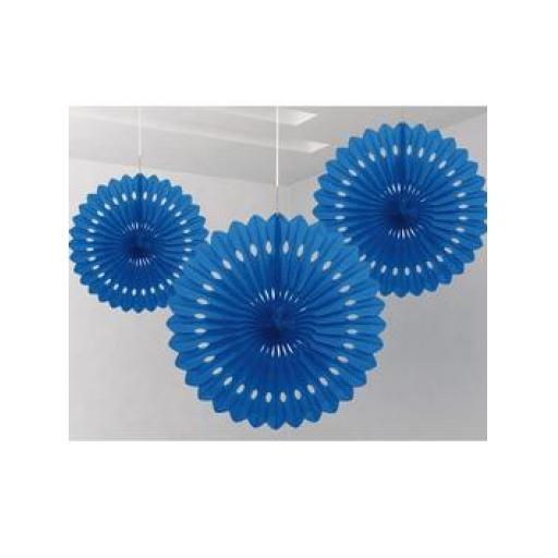 Decorative Fan 16 inch Royal Blue 1pc