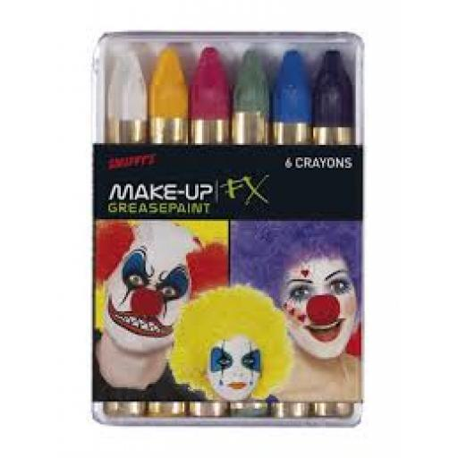 Carnival Greasepaint Crayons 6 Colour