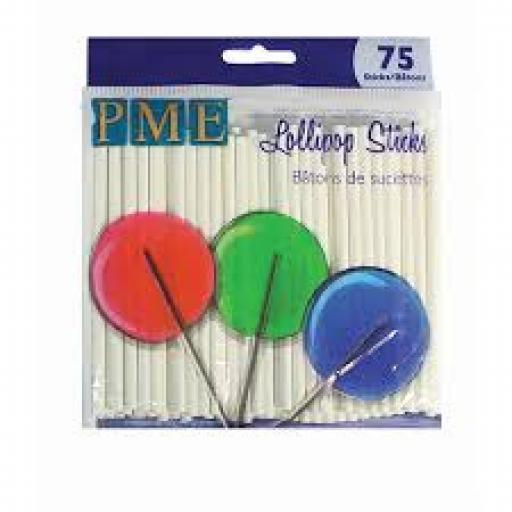 PME Lollipop Sticks 3.7in/ 75sticks