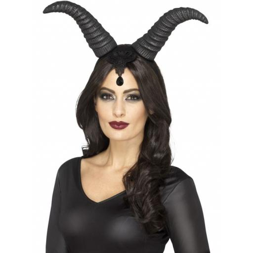 Demonic Queen Horns on Headband