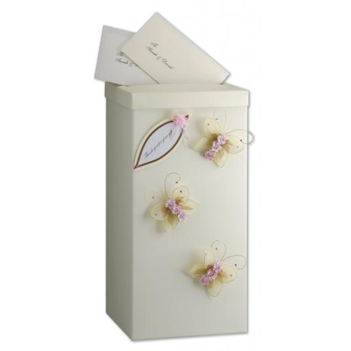 Silk Square Post Box with Lid 25x25x50cm