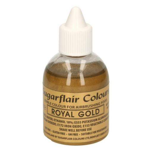 Sugarflair Colours Royal Gold Glitter - Edible Glitter Airbrush Liquid 60ml