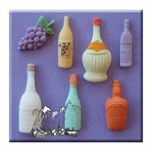 Assorted Bottles Mould By Alphabet