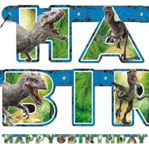 Jurassic World Letter Banner Happy Birtday 1.86 m