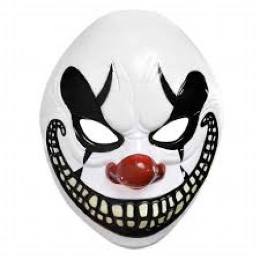 Adult Clown Mask Plastic
