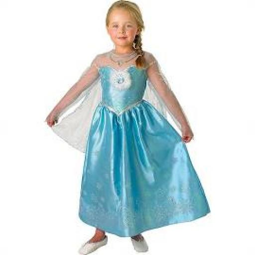 Frozen Elasa Dress and Cape Deluxe Costume