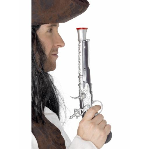 Pirate Pistol, Silver, Silver, 30cm / 12in, Realistic