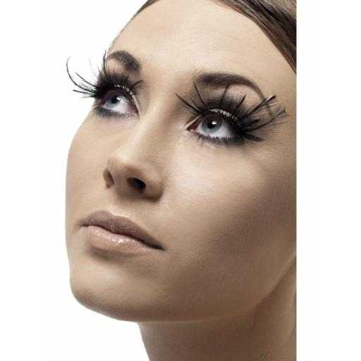 Eyelashes Black Feather Plumes