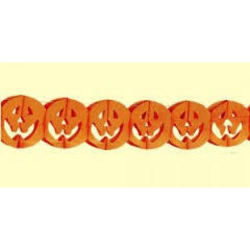 Paper Pumpkin Garland 4m