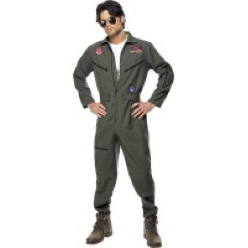 Top Gun Pilot Jumpsuit Name Tag & Shades