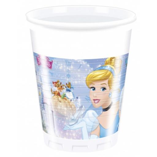 Cinderella Party Plastic Cups Pack of 8