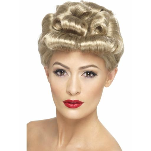 Vintage Wig Blonde with Curls