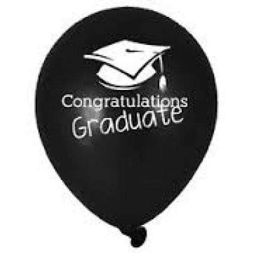 Congratulation Graduate 6 Printed Latex Hellium Ba