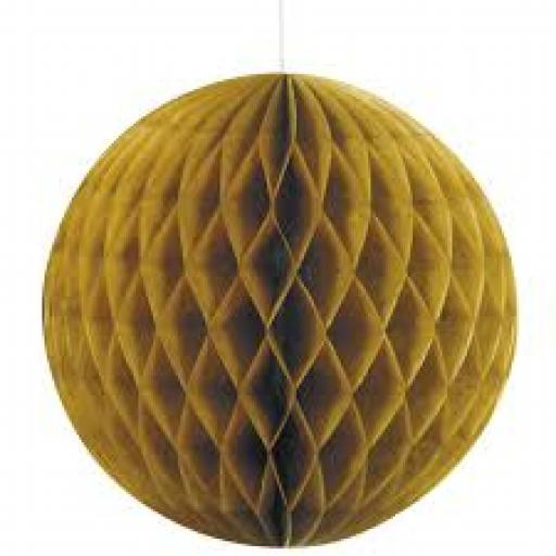 Honeycomb Ball Gold 8inch