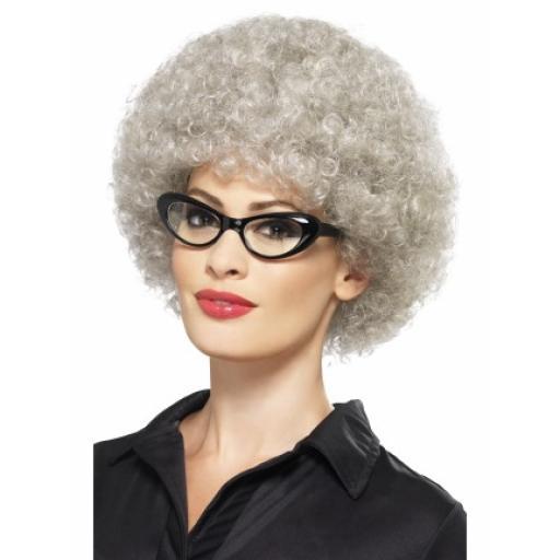 Granny Perm Wig Grey