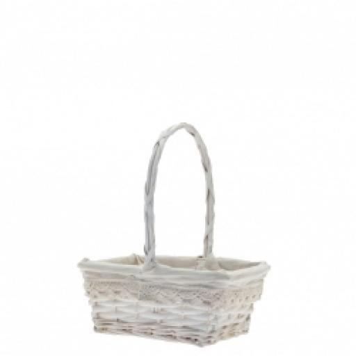 22cm Rectengular Victoria BasketWith Handler