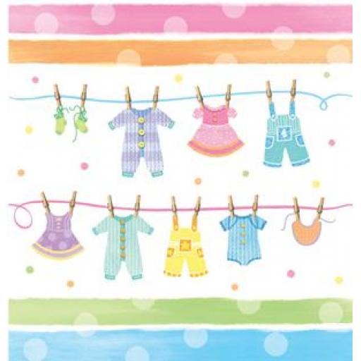 Baby Shower Plastic Table Cover 54x108in