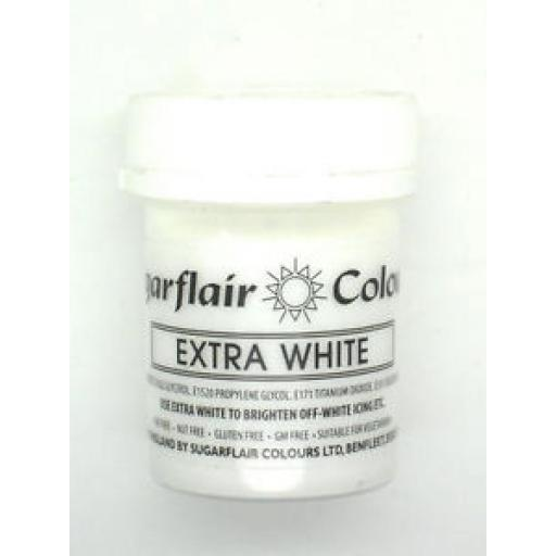 Sugarflair Extra White Colours 50g