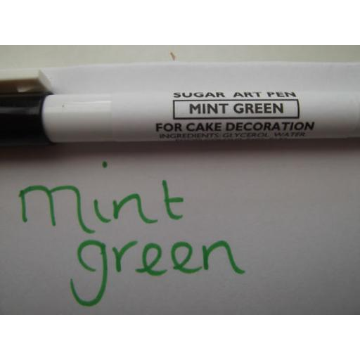 Sugar Art Pen Mint Green For Cake Decorating