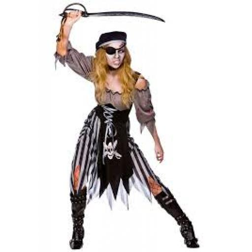 Zombie Cutthroat Pirate Dress Bloodeffect Bandana