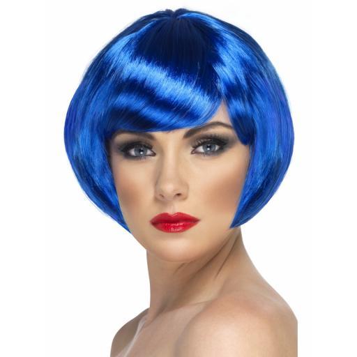 Babe wig blue short bob