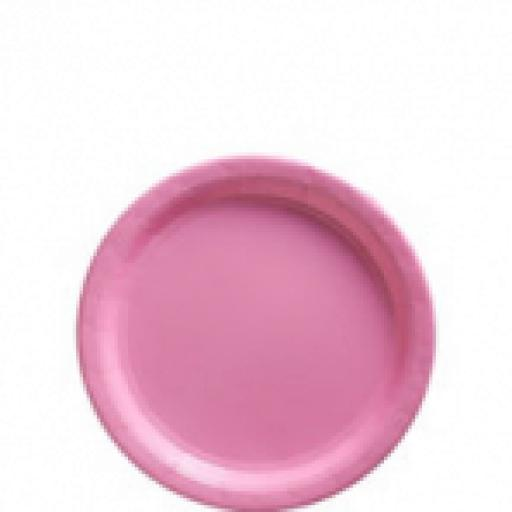 Baby Pink Paper Plates 17.7cm 8ct