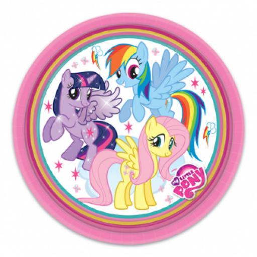 My Little Pony Paper Party Plates 23cm 8ct