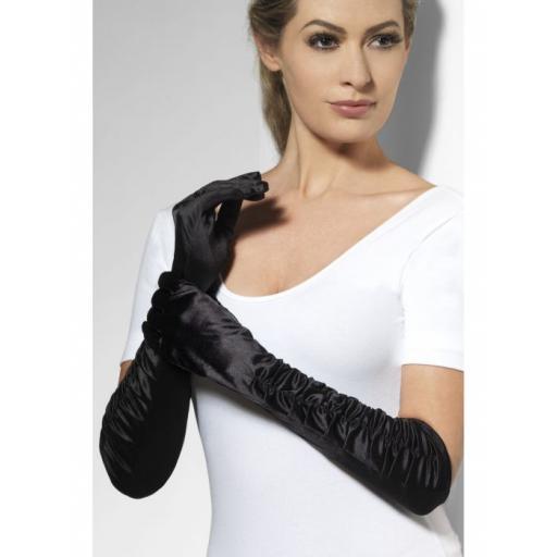Temptress Gloves, Black, Long