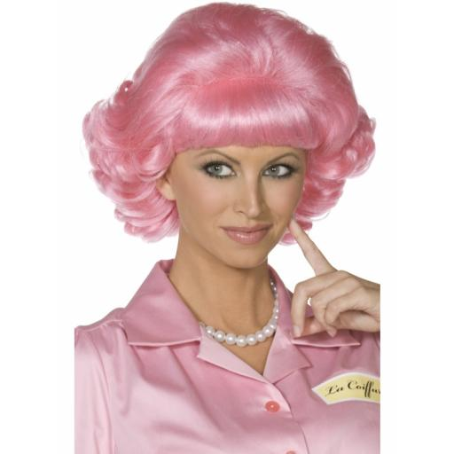 Frenchy Wig Pink Short Curly