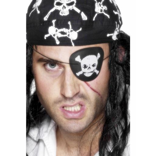 Pirate Eyepatch Skull & Cross Bones