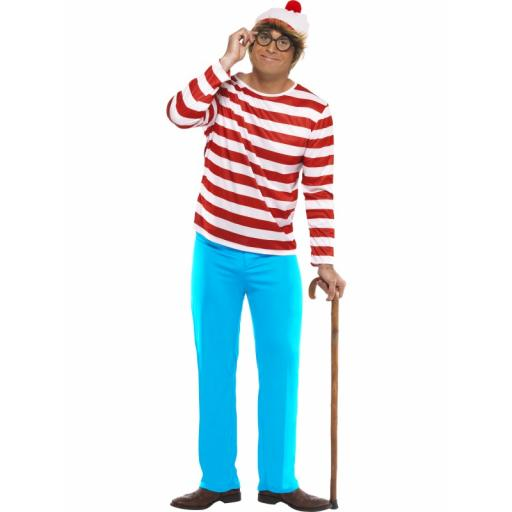 Where is Wally? Costume Adult Medium