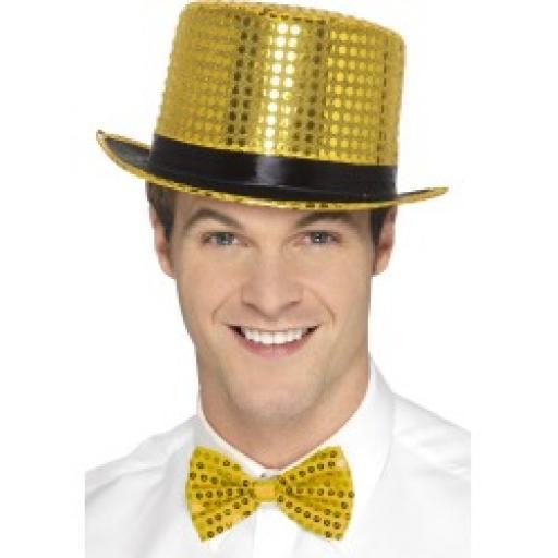 Sequin Top Hat Gold
