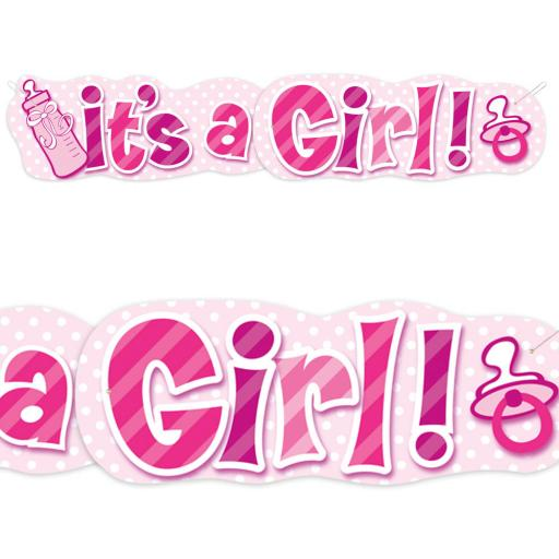 It s a Girl Baby Shower Giant Banner 4.47ft