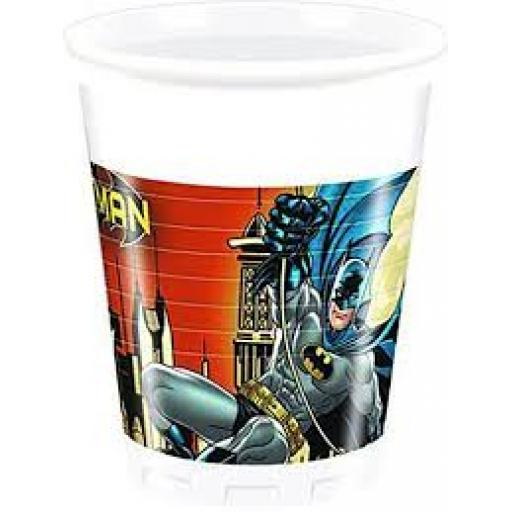 Batman Plastic Cups 8pcs 200ml