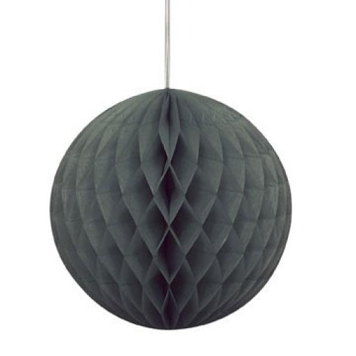 Honeycomb ball 8in Black