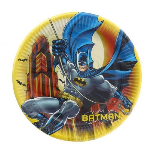 Batman 8 Paper Plates 23 cm