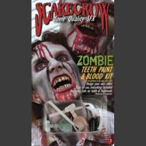 Zombie Teeth Paint Blood Kit