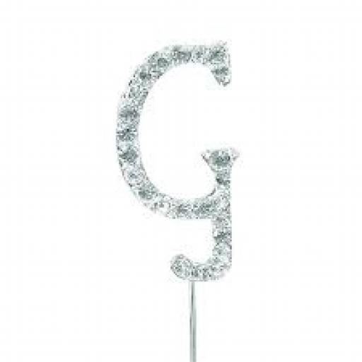 Diamante Letter G Cake Topper Decoration