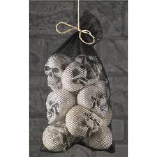 12 pcs Of Skulls in Net Bag