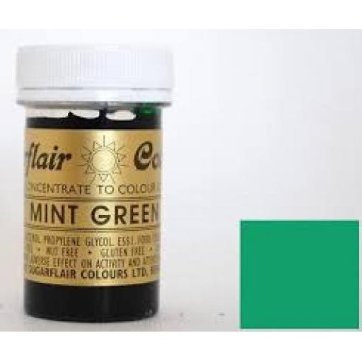 Sugarflair Spectral Mint Green Paste Colouring 25g