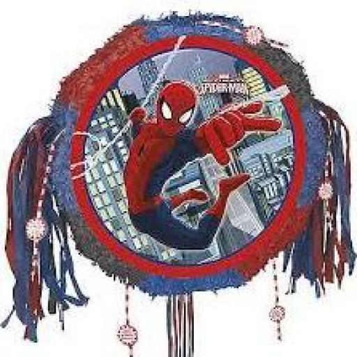 Spiderman Drum Pull Pinata
